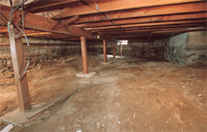Dirt crawl space in the Bay Area, CA ready to be encapsulated